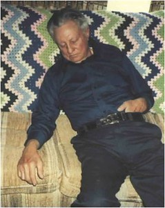 Dad asleep on couch