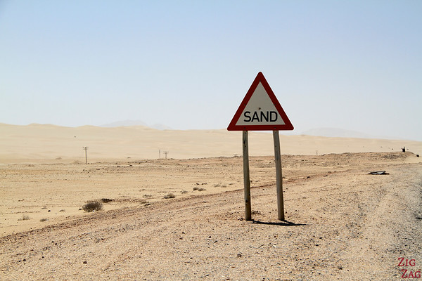 Driving to Luderitz, Namibia