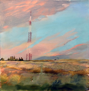 """Sunset"" (oil on paper) by Ekaterina Kovzus"