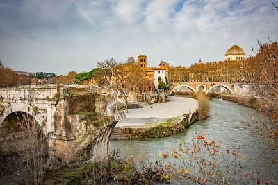 Tiber River and Isola Tiberina