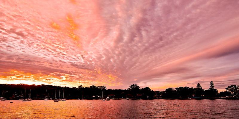 Pink Panoramic Sunrise Seascape Australia