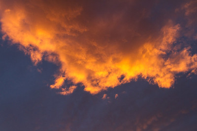 Wild Clouds and Sunset Color