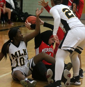 Photos from District Girls Basketball Games at Edsel Ford