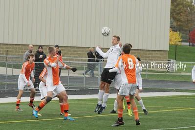 HCHS varsity soccer vs Byron Center district finals