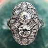 1.75ctw Edwardian Toi et Moi Old European Cut Diamond Ring  7