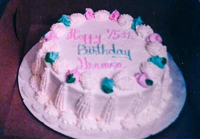 1981-10 | Grandma Bertha | 75th Birthday