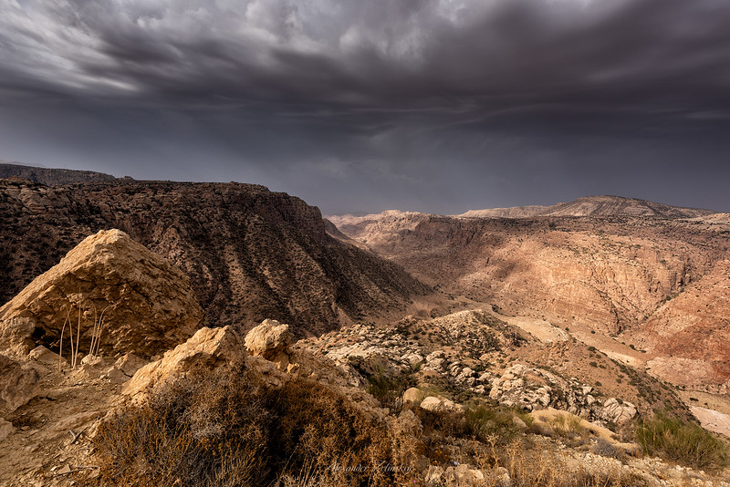 View on Dana Valley