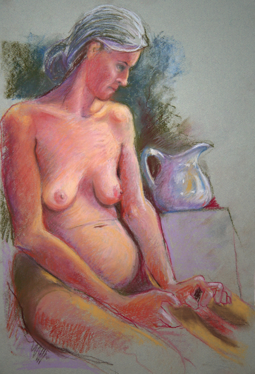 Mary with jug
