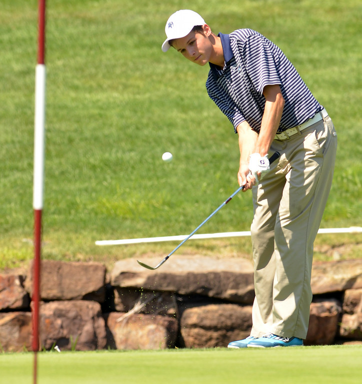 . Andrew Lombardo of North Penn.  Monday,  August 25, 2014.   Photo by Geoff Patton