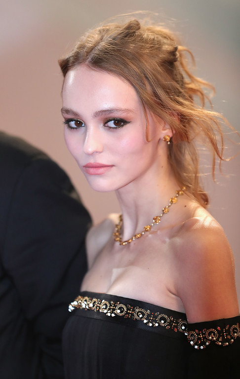". Actress Lily-Rose Depp attends the ""I, Daniel Blake\"" premiere during the 69th annual Cannes Film Festival at the Palais des Festivals on May 13, 2016 in Cannes, France.  (Photo by Neilson Barnard/Getty Images)"