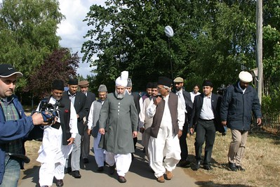 Huzur visits Islamabad Site for Inspection