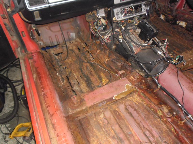 Left front floorpan rotten