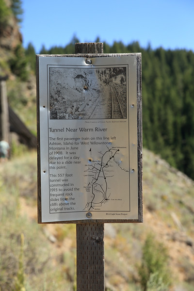 Near Bear Gulch on the old Oregon Short Line Railroad