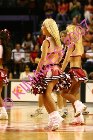 Hawks Vs Razorbacks - Cheerleaders & Half-Time Entertainment. 13-1-07