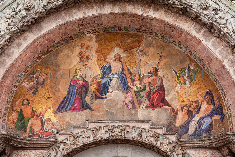 Tiled Archway , St. Mark's Basilica Entrance , Venice
