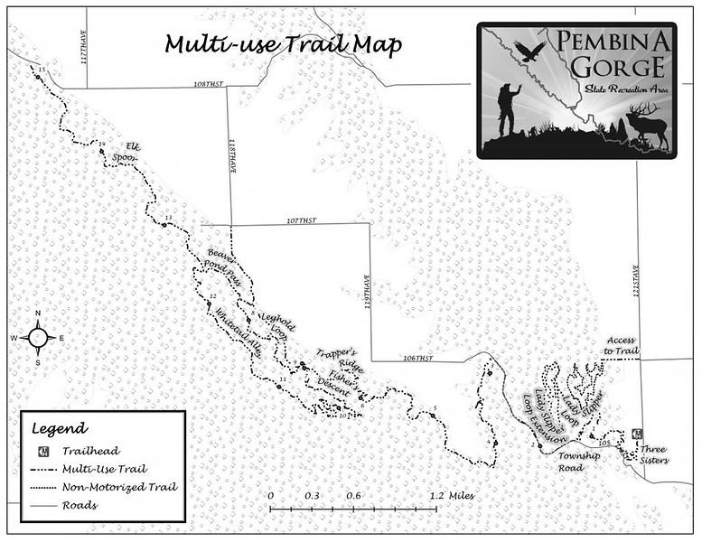 Pembina Gorge State Recreation Area (Multi-Use Trail Map)