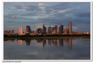 2007 Fireworks And Dallas Skyline