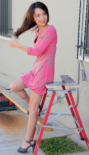 beautiful woman model red dress 144.45.45