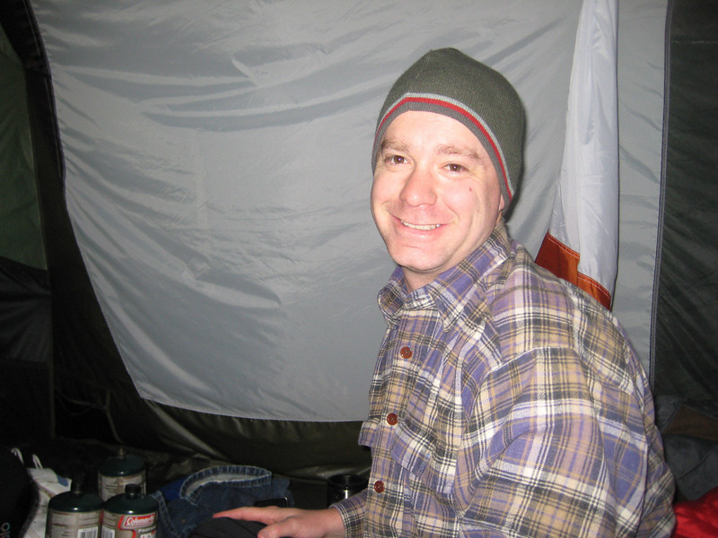 Ken warm in the tent