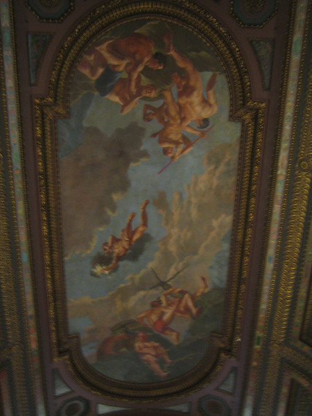 The ceiling of the New York Public Library