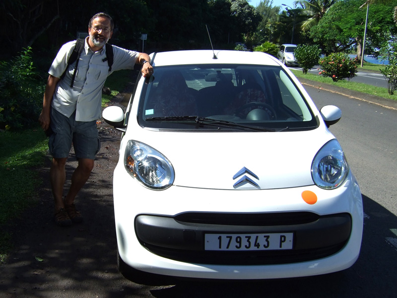 On our last day in French Polynesia, we rented a car to drive around Tahiti.  Rental car are surprisingly expense!