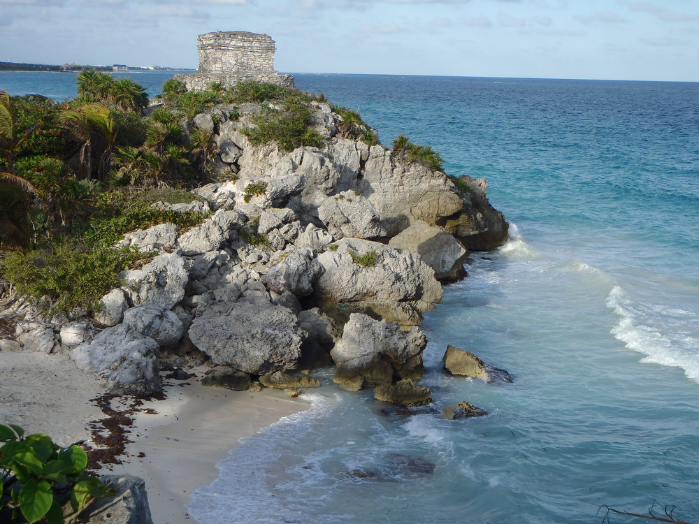 . The ruins and beach at Tulum make for a picturesque day of sun and water.  (Kyle Wagner/Special to the Denver Post)