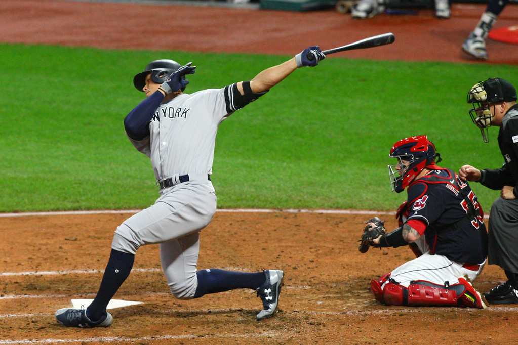 . David Turben - The News-Herald 2017 - Baseball - ALDS Game 5 Quick Pics.  Yankees Aaron Judge (99) was kept in check again tonight striking out here.
