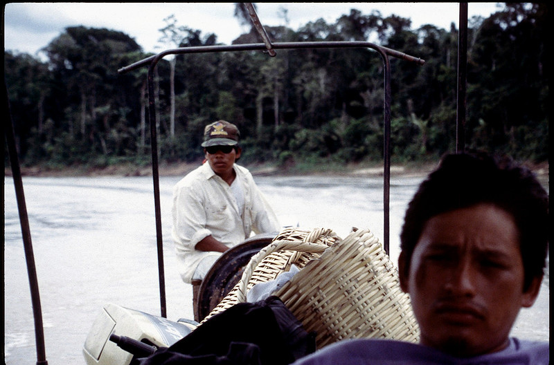 two hour ride upriver on tributary of the Amazon