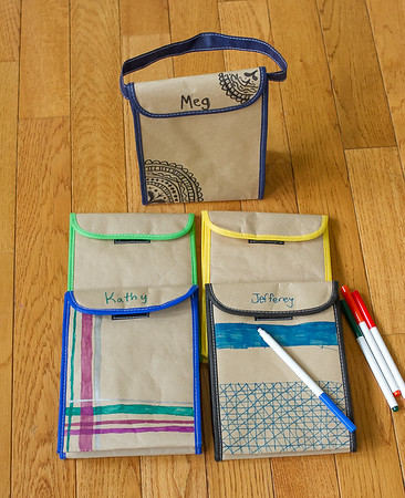 color me lunch bags