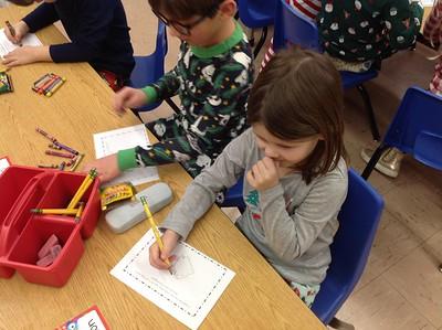 Kindergarten Pajama day and Christmas Party
