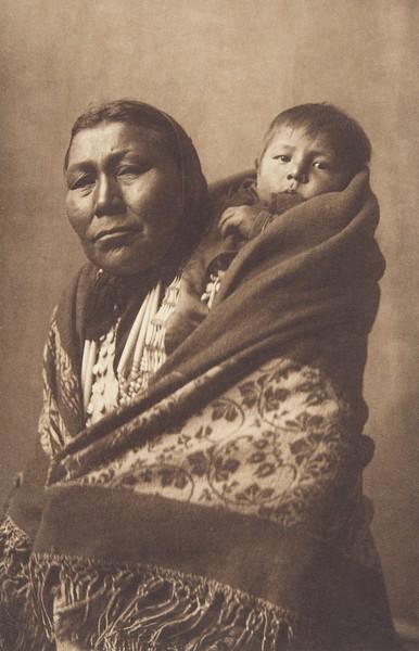 Hidatsa Mother (Indians of North America, v. IV. Cambridge, MA: The University Press, 1909)