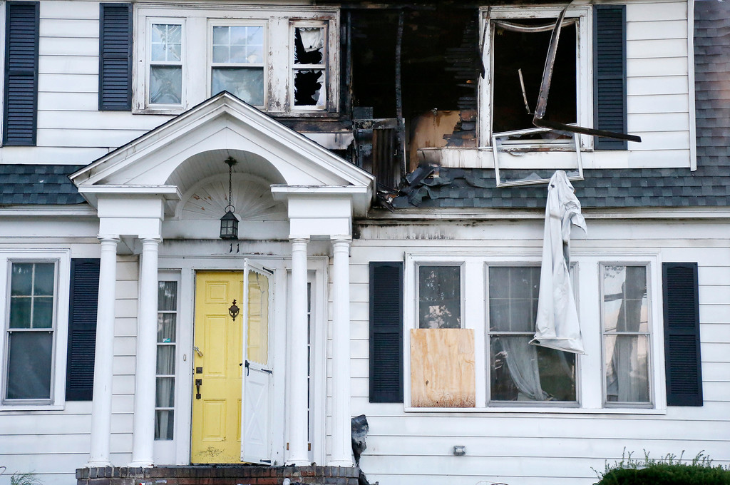 . A house on Herrick Road in North Andover, Mass., is seen Friday, Sept. 14, 2018. The home was one of multiple houses that went up in flames on Thursday afternoon after gas explosions and fires triggered by a problem with a gas line that feeds homes in several communities north of Boston (AP Photo/Mary Schwalm)