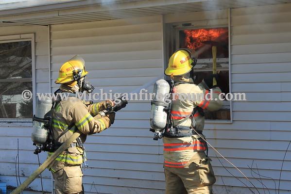 2/20/16 - Meridian Twp house fire, 3381 Hulett Rd
