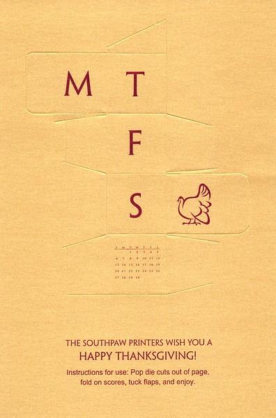 November, 2011, Southpaw Printers