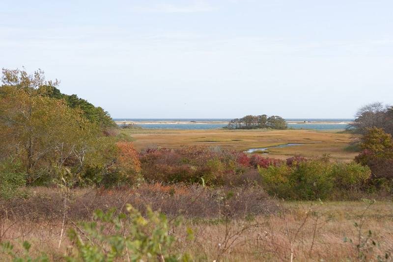 The view of Sengekontacket Pond and Nantucket Sound.