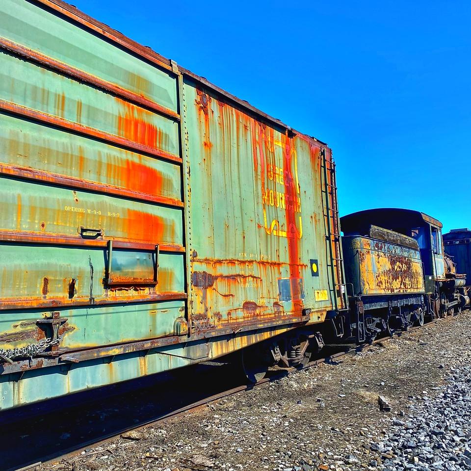 rusting boxcar Steamtown national historical site - scranton pennsylvania