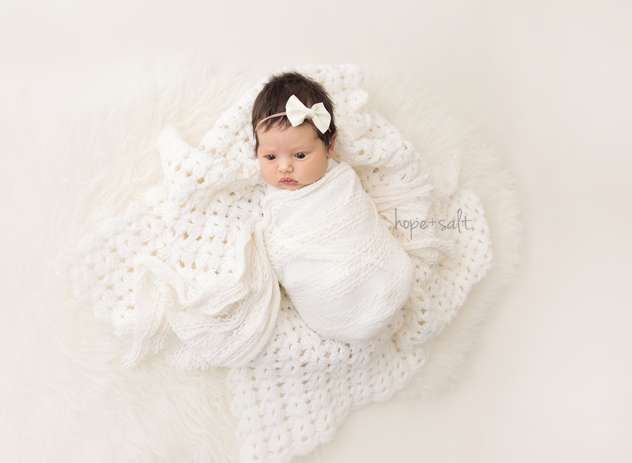 burlington newborn photographer - naturally posed studio session for baby girl Rosie and family