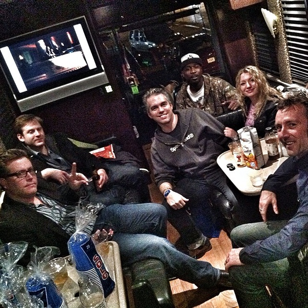 Partying on @deeHustle's SWEET bus with @petershankman @juliaroy @clayhebert @matthewscd is the way to roll at #sxsw