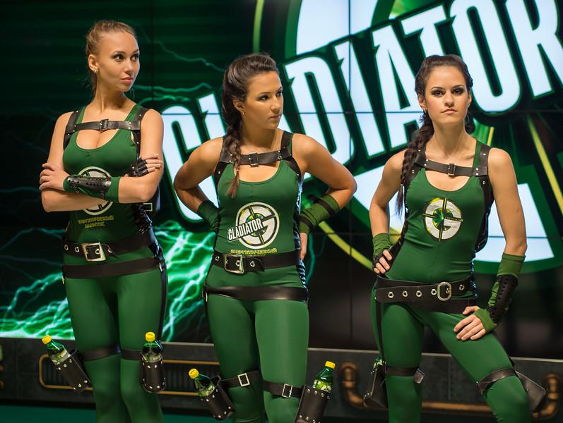 Promo girls at Igromir 2013