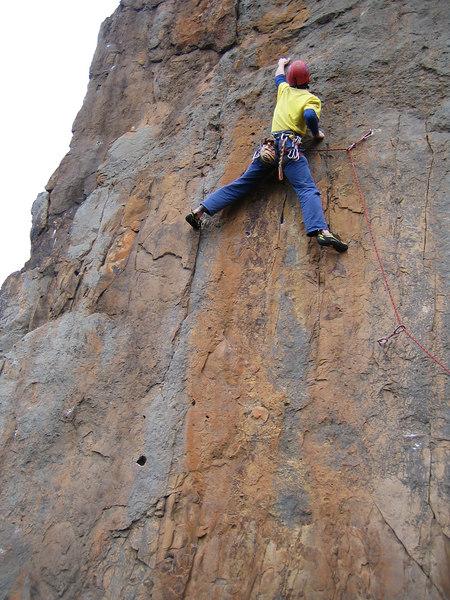 Adam on Poco Wall (23) Werribee Gourge