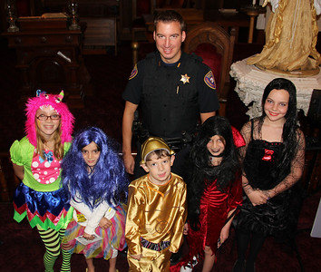 Lansford Police Teach Halloween Safety, Panther Valley Library, Lansford (10-27-2012)
