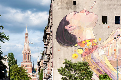 Wall mural, Lodz, Poland