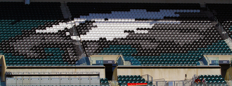 The Philadelphia Eagles logo in the their stadium