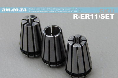 SKU: R-ER11/SET, ER11 Collet Standard Set, Includes 3mm, 4mm and 6mm Collet Each