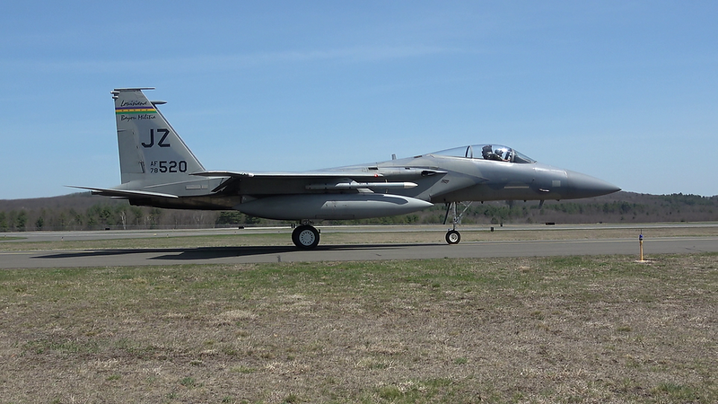 5-2-18...seven F-15s taxiing and taking off in the afternoon including two JZ and OR jets and one REHEAT jet