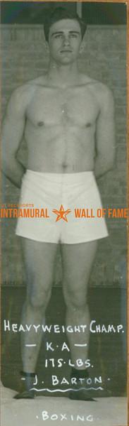 BOXING Heavyweight Champion  K. A.  J. Barton (175 lbs)