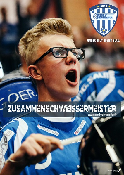 Plakatkampagne für Fans des TBV Lemgo. Fotos/Grafik Headlinekonzept