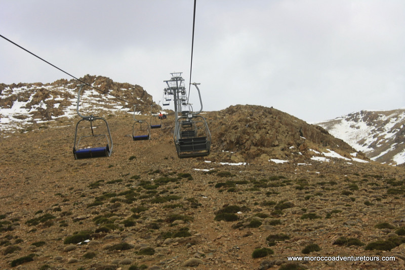 a day 4x4 adventure between atlas mountain visiting the highest peak in north Africa and moroccan ski resort join us at www.moroccoadventuretours.com