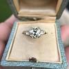 2.73ct Old European Cut Diamond Diamond Ring, AGS M VS2 3