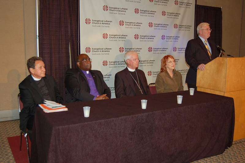 News conference on today's adoption of the Full Communion agreement with the United Methodist Church.